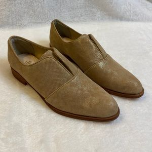 Isola tan suede leather loafers size 6